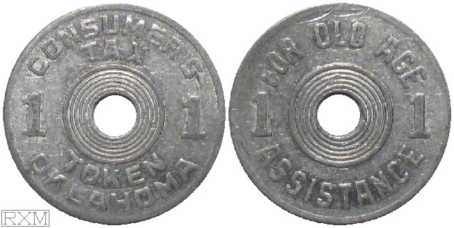 Tax Token Oklahoma Aluminum Old Age One