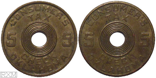 Tax Token Oklahoma Brass Consumers Five