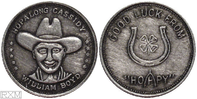 Hopalong Cassidy Good Luck Coins Tokens And Medals